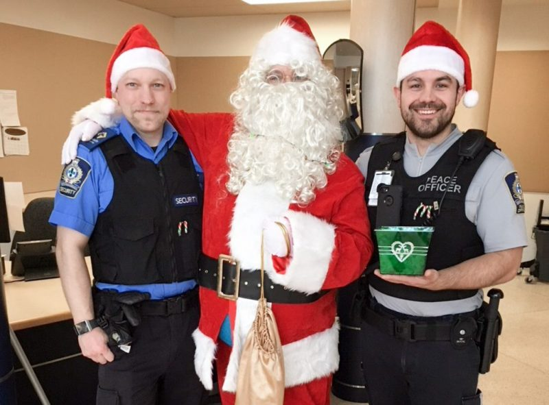 2 Security Guards with Santa