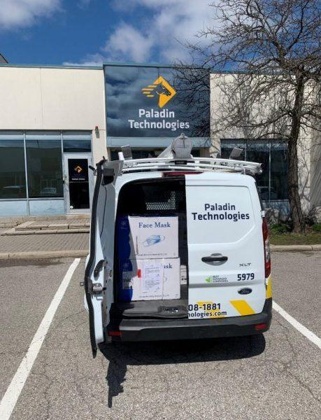 Paladin Technologies Van with Face Masks inside