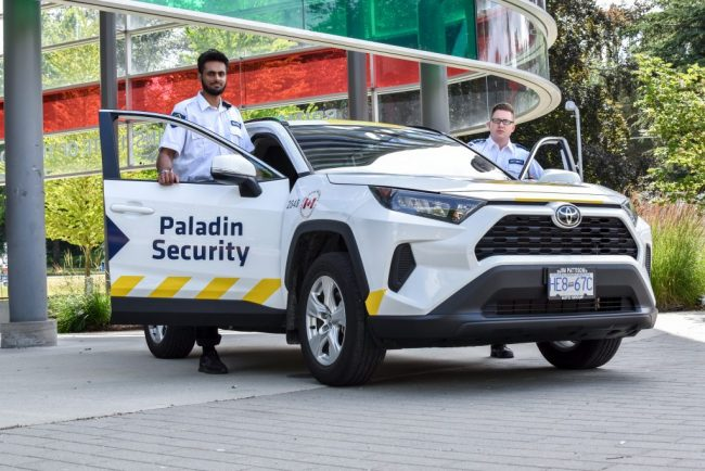 Mobile Security Officers in High Visibility Car